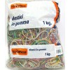 Elastici gomma assortiti 1kg diam.assortiti